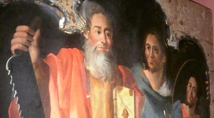 św. Apostołowie Szymon i Juda Tadeusz - obraz z naszego ołtarza