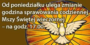 Zmiana godzyny codziennej mszy świętej