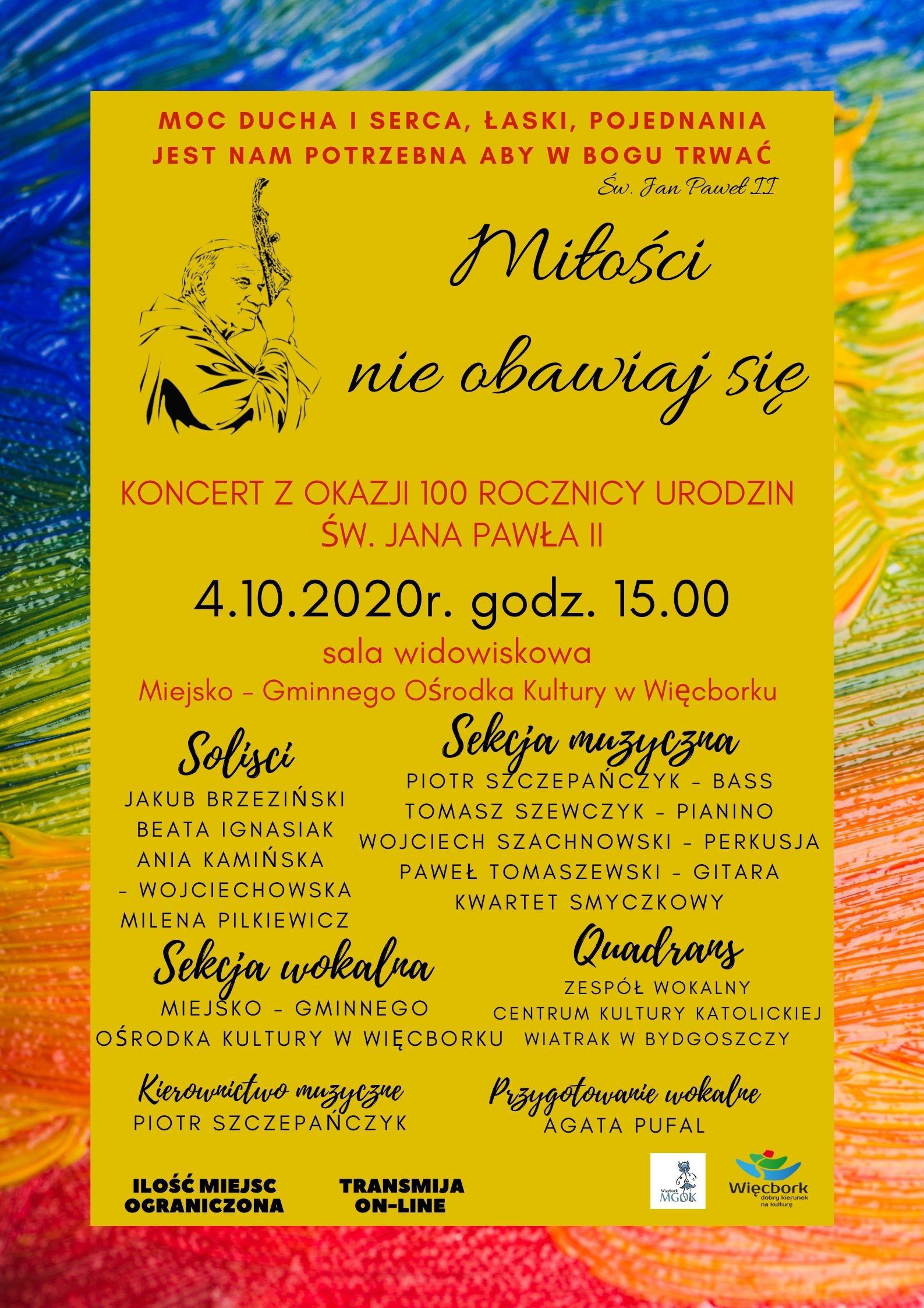 Koncert – Miłości nie obawiaj się